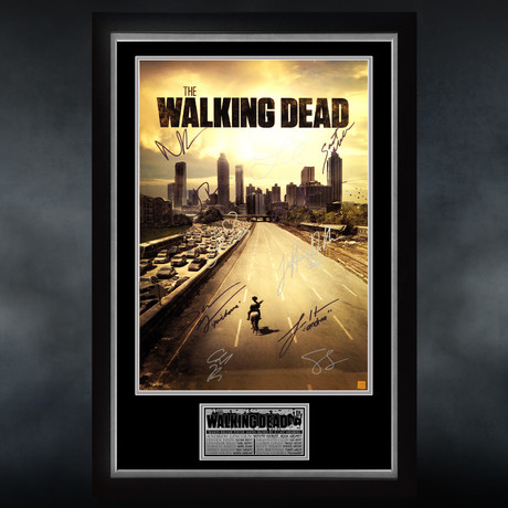 Walking Dead City // Cast Signed Poster // Custom Frame