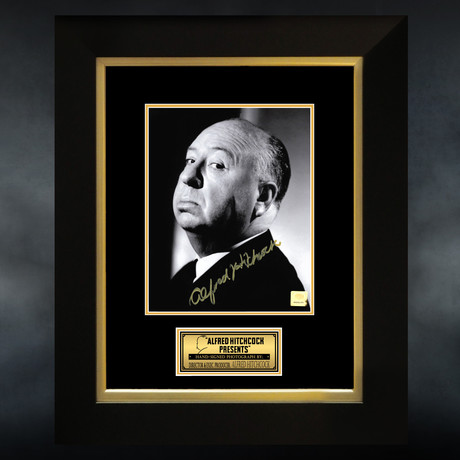 Alfred Hitchcock // Signed Photo // Custom Frame