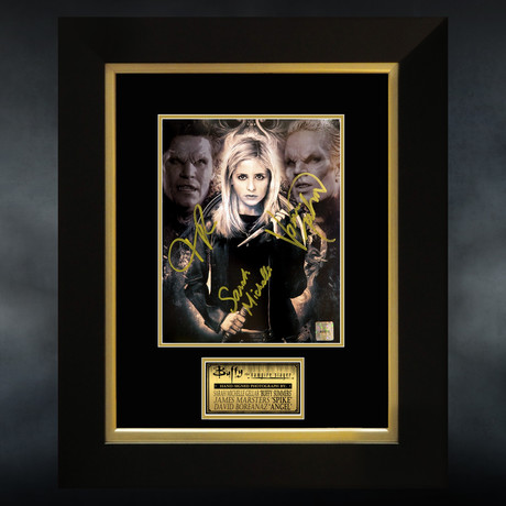 Buffy The Vampire Slayer // Gellar + Marsters + Boreanaz Signed Photo // Custom Frame