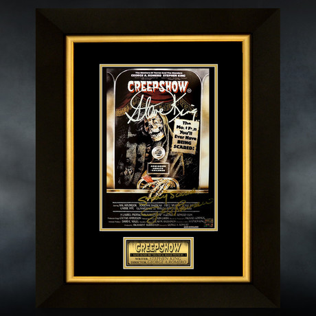 Creepshow // Stephen King + George A.Romero Signed Mini Poster // Custom Frame