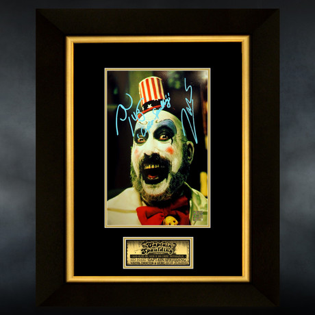 House Of A 1000 Corpses // Sid Haig + Rob Zombie Signed Photo // Custom Frame