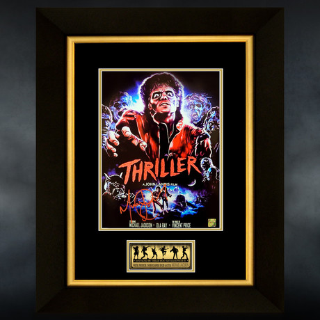 Michael Jackson // Zombie Thriller Signed Mini Poster // Custom Frame