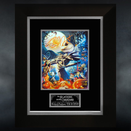 Nightmare Before Christmas // Tim Burton Signed  Photo // Custom Frame