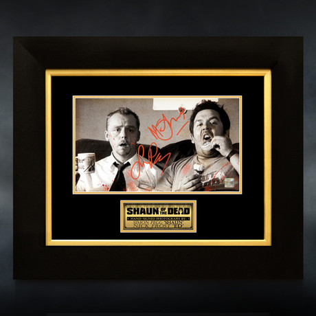 Shaun Of The Dead // Simon Pegg + Nick Frost Signed Photo // Custom Frame