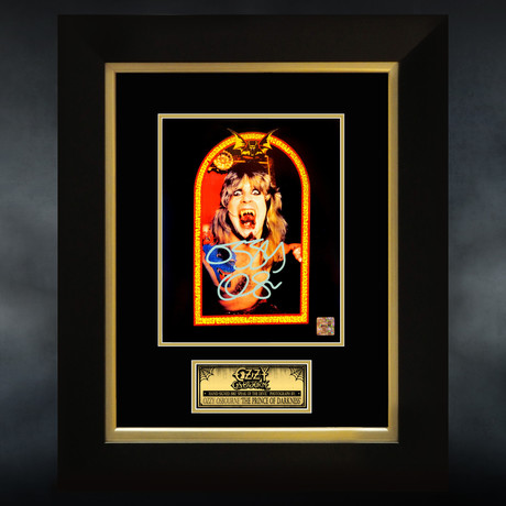 Speak Of The Devil // Ozzy Osbourne Signed Photo // Custom Frame