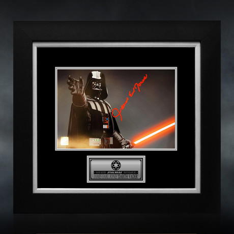 Star Wars Darth Vader // James Earl Jones Signed Photo // Custom Frame