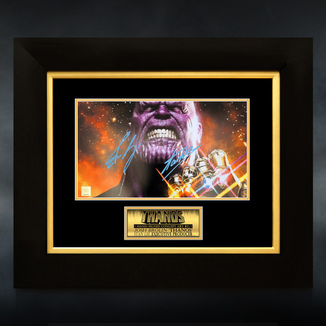Thanos // Josh Brolin & Stan Lee Signed Photo // Custom Frame