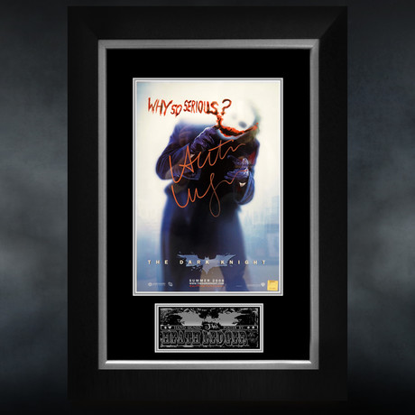 The Joker // Heath Ledger Signed Mini Poster // Custom Frame