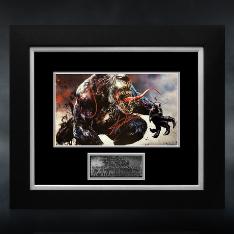 Venom // Tom Hardy & Stan Lee Signed Promotional Art // Custom Frame