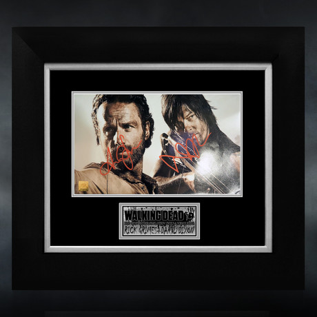 Walking Dead // Andrew Lincoln & Norman Reedus Signed Photo // Custom Frame