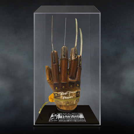 Nightmare On Elm Street // Robert Englund Signed Glove // Custom Museum Display (Signed Glove Only)