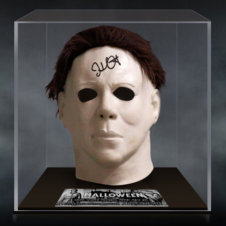 Halloween // John Carpenter Signed Mask // Custom Museum Display (Signed Mask Only)