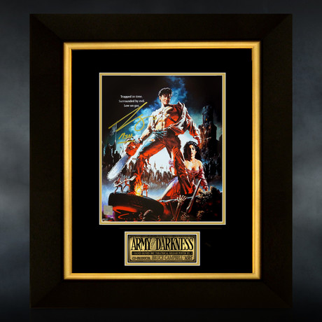 Army Of Darkness // Bruce Campbell Signed Mini Poster // Custom Frame