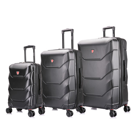 ZONIX Lightweight Hardside Luggage // Set of 3 (Wine)