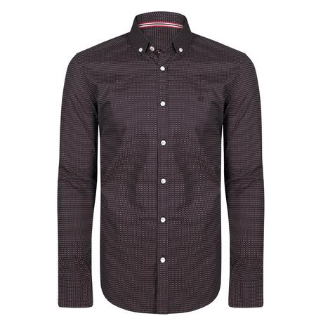 Columba Dress Shirt // Black + White + Red (S)