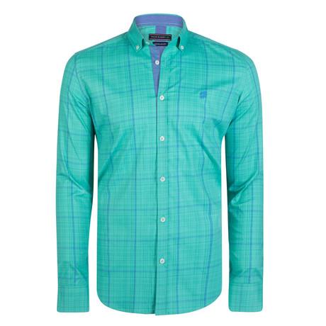 Cephus Dress Shirt // Mint + Navy (S)