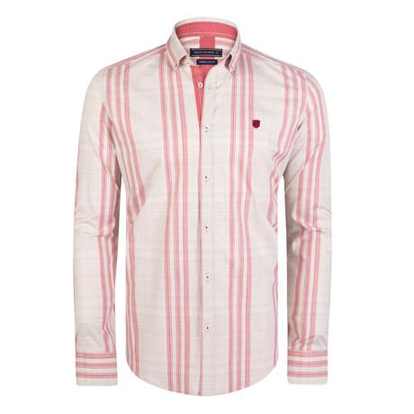Shirt // Beige + Red (S)