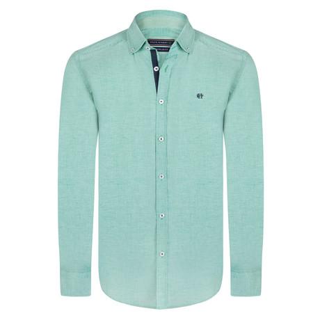 Alastor Dress Shirt // Green + White (S)