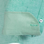 Alastor Dress Shirt // Green + White (XL)
