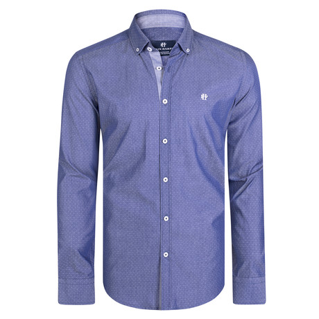 Attis Dress Shirt // Navy + White Point (XS)