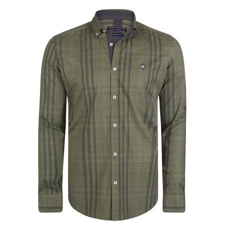 Canes Venatici Dress Shirt // Green + Black (S)