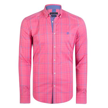 Cetus Dress Shirt // Pink + Blue (S)