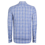 Equuleus Dress Shirt // Blue + Navy + White (XS)