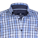 Equuleus Dress Shirt // Blue + Navy + White (3XL)