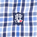 Equuleus Dress Shirt // Blue + Navy + White (L)