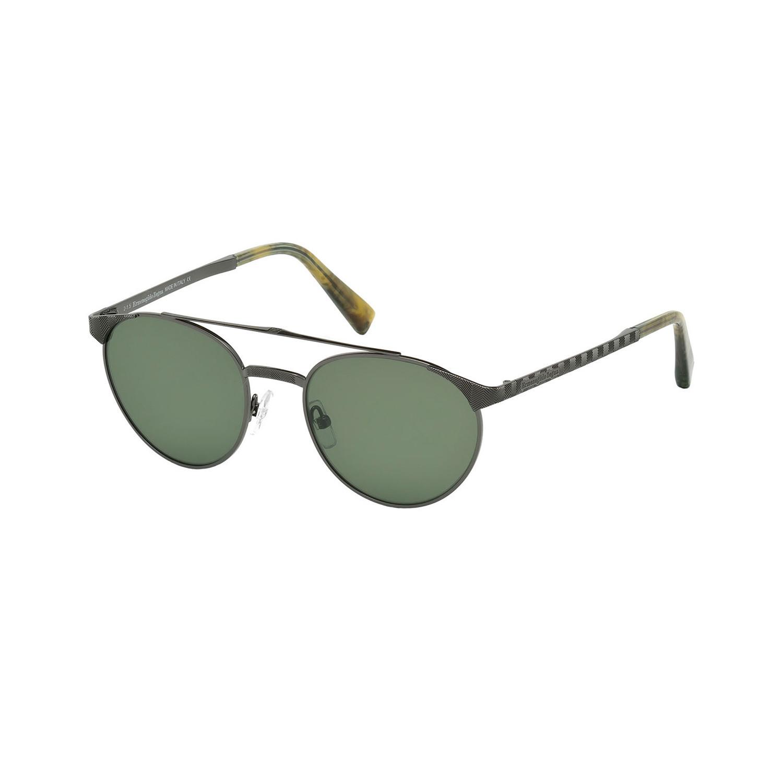 Zegna // Men's Metal Top Bar Sunglasses // Shiny Gunmetal ...