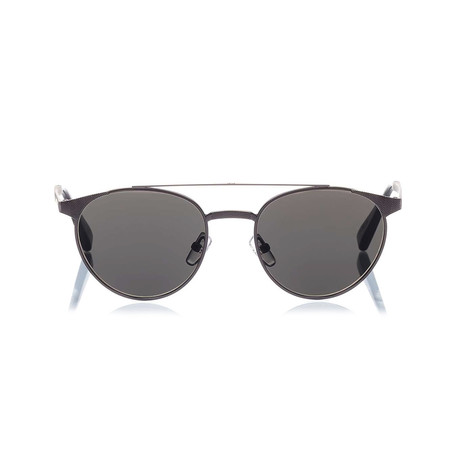 Zegna // Metal Top Bar Sunglasses // Matte Gunmetal + Smoke