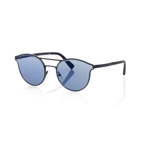 Zegna // Double Bridge Sunglasses // Gunmetal + Mirror Gray Blue