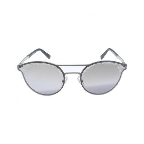 Zegna // Double Bridge Sunglasses // Gunmetal + Silver Mirror
