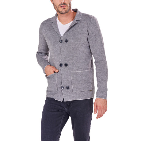 Double Button Jumper // Gray (S)