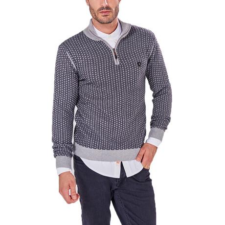 Quarter-Zip Sweater // Gray (S)