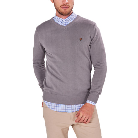 V-Neck Jumper // Gray (S)