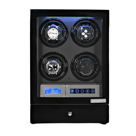 Arcanent 4 Slot LCD Digital Watch Winder