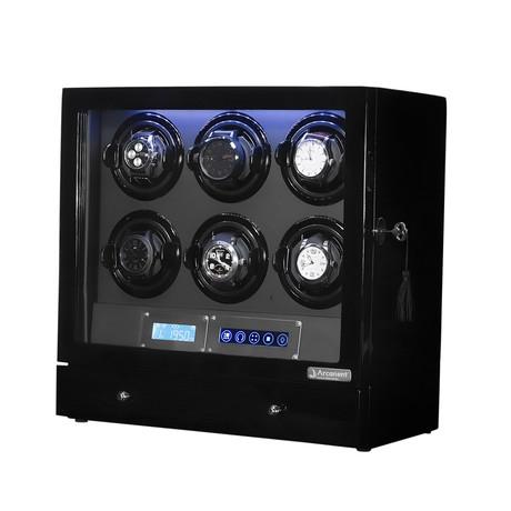 Arcanent 6 Slot LCD Digital Watch Winder