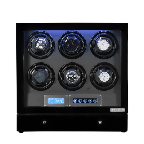 Arcanent 6 Slot LCD Digital Watch Winder