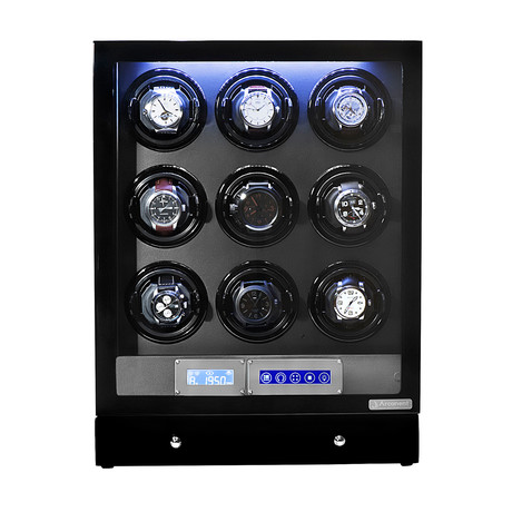 Arcanent 9 Slot LCD Digital Watch Winder