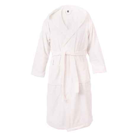 Hooded Bathrobe // White (S/M)