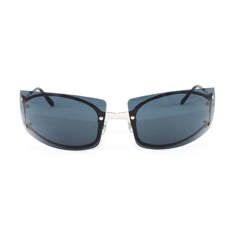 Men's Pasha3 Sunglasses // Silver + Blue Lens