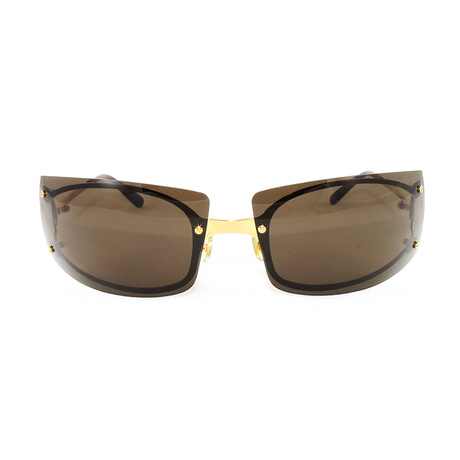 Men's Pasha3 Sunglasses // Gold + Brown Lens