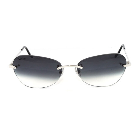 Men's T8302016 Rimless Sunglasses // Palace Platinum
