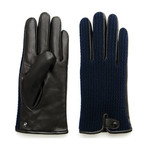 Wool Gloves // Dark Blue + Black (XL)
