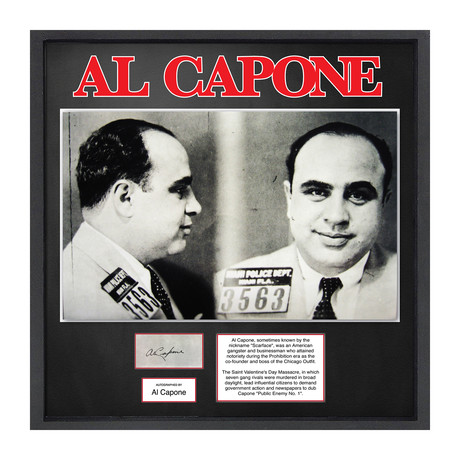 Signed Signature Headshot // Al Capone