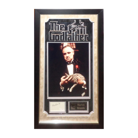 Signed Signature Collage // The Godfather // Marion Brando
