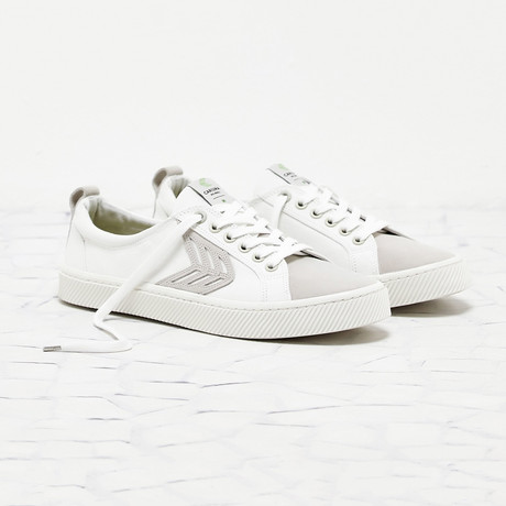 Catiba Low Canvas // White + Ice (US: 8)