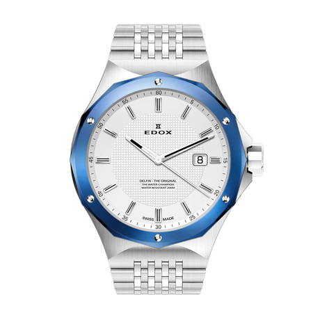 Edox Delfin 3-Hand Quartz // 53005 3BUM AIN