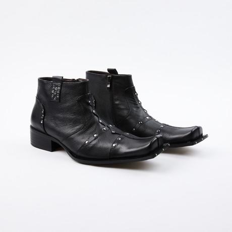 Gino Studded Dress Boots // Black (US: 6.5)